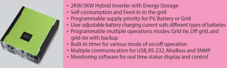 See the new Hybrid on and off grid inverter