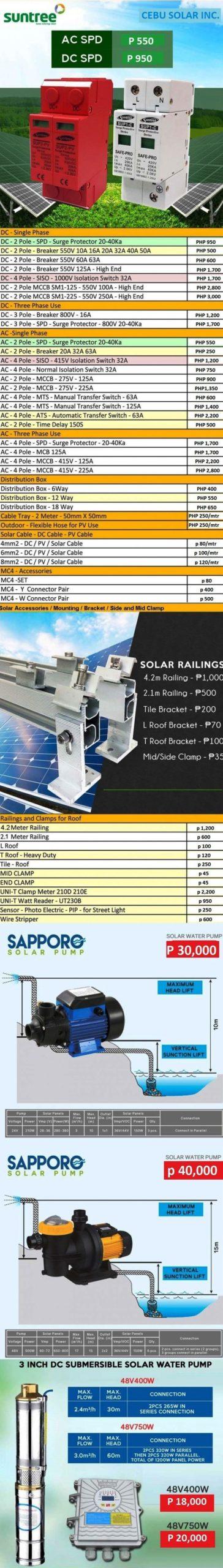 Cebu Solar Web Price List